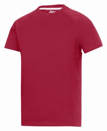 Snickers 2504 T-shirt with MultiPockets (Chili Red)